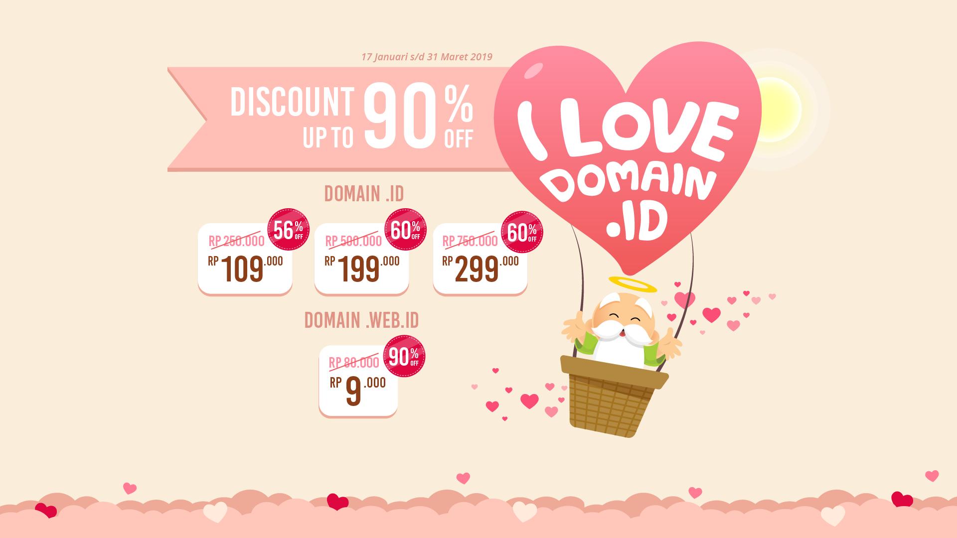 Promo Special Domain .id & web.id Murah Durasi Setahun dari Dewaweb (Discount up to 90% OFF)